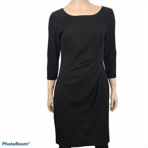 Calvin Klein Black Pleated Fit and Flare Dress